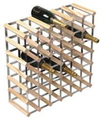 Bruine RTA Wijnrek van hout voor 42 flessen