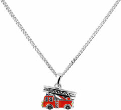 Rode The Kids Jewelry Collection Ketting Brandweerauto 1,4 mm 36 + 4 cm - Zilver Gerhodineerd