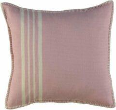 Roze Lalay Kussenhoes 50x50 Krem Sultan Rose Pink- vierkant - sierkussen - katoen