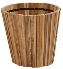 Bruine Esschert design 4 Seasons Outdoor - Planter Miguel Small teak 58 cm. (H 50 cm.)