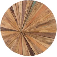 Beliani MORELIA - Wanddecoratie - Lichte houtkleur - Teakhout