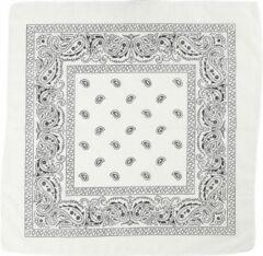 Creotime Bandana, afm 55x55 cm, wit, 1stuk