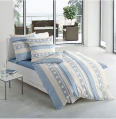Biber Bettwäsche Sterne blau Traumschlaf blau