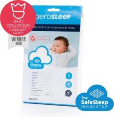 Witte AeroSleep polyester ® SafeSleep Hoeslaken voor PREMIUM matras