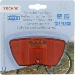Rode Techno Reflector Achterlicht - 3x led - Class 3 | Fiets licht | Fietsverlichting