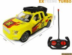 Gele LX toys Rc Extreme Turbo race auto 1:20 - radiografisch bestuurbare auto - 19 CM - incl. batterijen