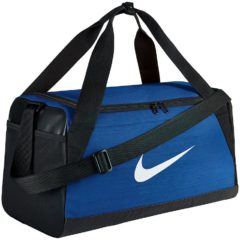 Blauwe Nike Brasilia Duffel Sporttas Klein