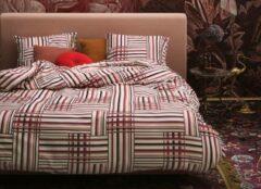 Rode Essenza Home dekbedovertrek Evie red - extra kussensloop (60x70 cm)