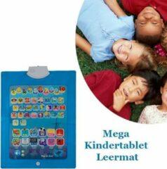 Blauwe Merkloos / Sans marque Spelen en tegelijkertijd leren met de Mega Kindertablet Leermat