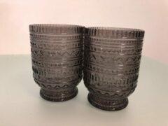 Paarse Merkloos / Sans marque Glazen set ( 2 stuks )