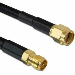 DeLOCK RP-SMA (m) - RP-SMA (v) verlengkabel - CFD200/RF200 - 50 Ohm / zwart - 10 meter