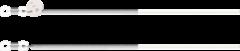 Komono Lenox Silver White Zonnebril Koord J1092 zilver en wit