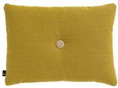 Gele Hay Dot Soft sierkussen 60 x 45 cm