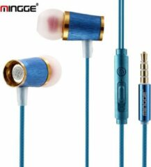M21 High Bass In-Ear Oordopjes met 3.5mm Jack Oortjes voor Apple iPhone / Samsung Galaxy / Huawei - blauw