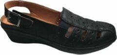 Zwarte Manlisa dames gesloten sandalen black 41
