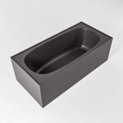 Donkergrijze Mondiaz FREEZE vrijstaand bad 180x85cm kleur Dark grey / Dark grey