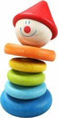Classic World Houten Rammelaar Clown Afmeting artikel: Ø 5 x 9,3 cm