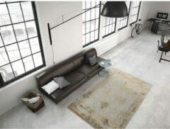 Zandkleurige Kayoom vintage-Patchwork vloerkleed - echt handgemaakt 200 x 290 Zand