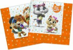 Nickelodeon Servetten 44 Cats 33 Cm Papier Oranje 20 Stuks