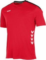 Rode Hummel Valencia T-Shirt Sportshirt Kinderen - Red/Black