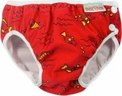 ImseVimse wasbare Zwemluier - Red Fish - XS 4-6 kg - rood