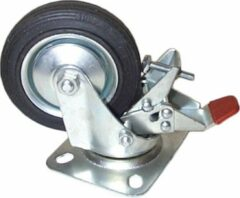Zilveren BWN Zwenkwiel + Rem 100-30-50 mm