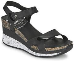 Panama Jack Nica Sport B1 sandalen met sleehak zwart - Maat 41