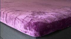 My house Hoeslaken dekbed hoes micro flanel ( met vleug)160x200 - 180x200 cm kleur paars super zacht ,anti-allergie,vochtregulerend,ademend,luxe uitstraling,bedlegerigheid voor matras en of topper