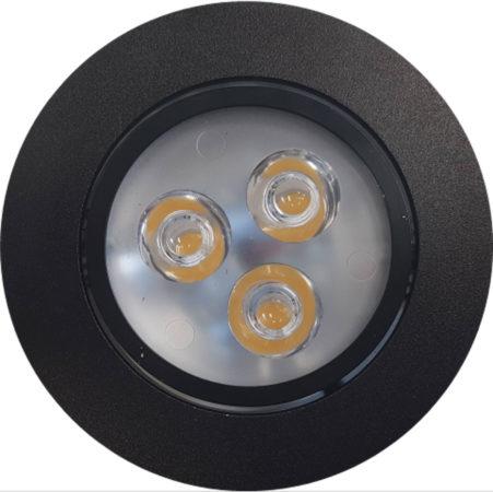 Afbeelding van Tegeldepot Inbouw Spotlamp Sanimex 85x45 mm Inclusief Armatuur en Gu10 3 Watt Zwart (3 stuks)