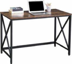 AZ-Home AZ Home - Bureau Indy 2 - Bureautafel - Desk - Donkerbruin 115 cm