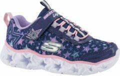 Skechers Kinderen Blauwe lightweight sneaker lichtjes - Maat 30
