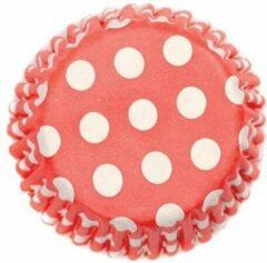 Culpitt Cupcake vormpjes Rood Witte Stippen pk/54