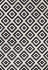 Impression Carpets Passion Zuiver Vloerkleed Wit / Zwart Laagpolig - 80x150 CM