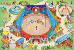House of Kids Speelkleed Circus 100x150, Groot speeltapijt circus