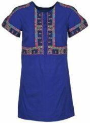 Blauwe Korte Jurk Antik Batik EMILIE