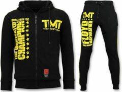 Local Fanatic Exclusieve Trainingspak Heren - TMT Floyd Mayweather Set - Zwart - Maat: XXL