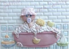 Paarse Karen Davies Baby in the Bath Silicone Mould