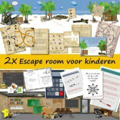 Speurfactory 2x Escape room voor kinderen – Ontsnap uit de kelder – Ontsnap van het eiland – 8 t/m 14 jaar – 1 tot 4 kinderen – Compleet draaiboek – print zelf uit!