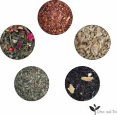 Come and Tea - 5 verschillende soorten kwaliteit thee 350gr - Luxe thee pakket - Verse thee - Losse thee - Gember thee - Munt thee - Rooibos thee - Zwarte thee - Groene thee - Thee cadeau - Kerst pakket - Kerst kado - Black friday