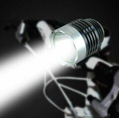 Zwarte Masterloot Super felle LED Fietslamp zilver