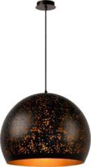 Bruine Lucide Verstelbare Hanglamp Eternal 1-Lichts Ø50 X H42 Cm - Metaal Roest Bruin