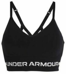 Under Armour - Women's Seamless Low Long Bra - Sportbeha maat XS, zwart