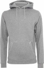 Build Your Brand Heren Zware Pullover Hoodie (Heide Grijs)