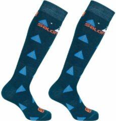 Donkerblauwe Salomon Team Wintersportsokken - Maat 23-26 - Unisex - donker blauw