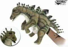 Grijze Hansa Creation Stegosaurus handpop 7747 lxbxh = 40x22x28cm