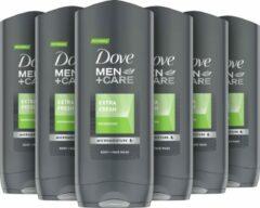 Dove Men+Care Extra Fresh - 6 x 400 ml - Douchegel - Voordeelverpakking