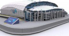 Non-License 3D Puzzel Lech Poznan: Stadion Miejski 114 stukjes