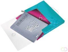 Bruna Documentenbox Leitz WOW 30mm PP ijsblauw