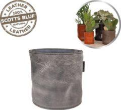 Grijze Scotts Bluf Lederen bloempot Grey 31 - Size XXL