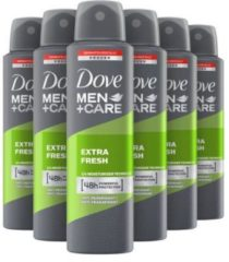 Dove Men+Care Extra Fresh - 6 x 150 ml - Deodorant Spray - Voordeelverpakking